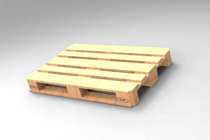 euro pallet epal eur autocad autodesk 3ds max rhino stl solid edge step iges 3d cad. Black Bedroom Furniture Sets. Home Design Ideas