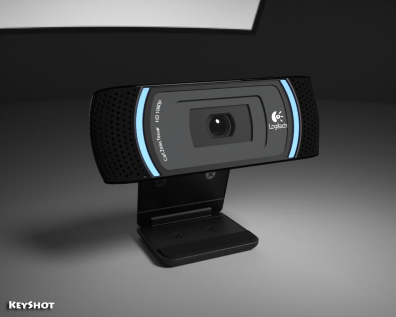 Logitech C910 Web Cam 3d Cad Model Library Grabcad