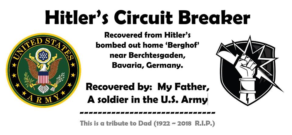 Hitlers Circuit Breaker 3d Cad Model Library Grabcad
