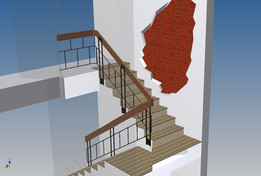 The staircase in the house