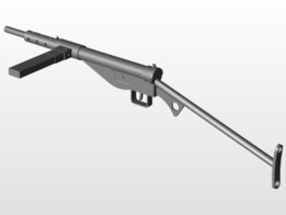 Sten recent models 3d cad model collection grabcad community mk2 sten gun maxwellsz