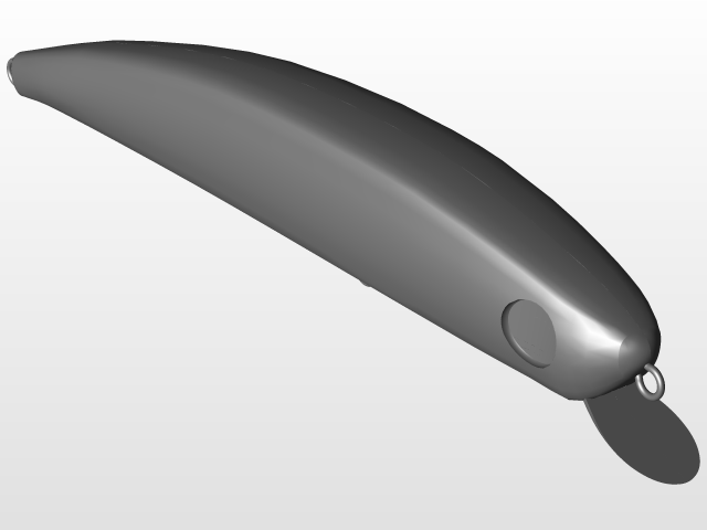 Minnow fishing lure | 3D CAD Model Library | GrabCAD