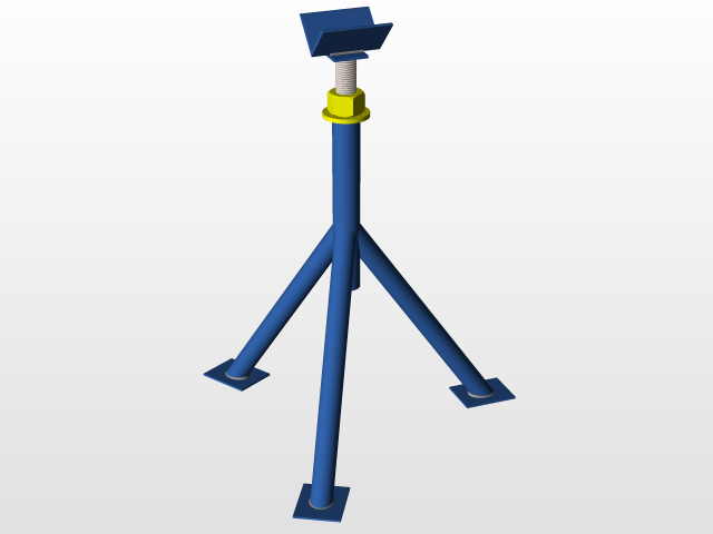 Load in 3D viewer Uploaded by Anonymous  sc 1 st  GrabCAD & Adjustable stand for pipes | 3D CAD Model Library | GrabCAD