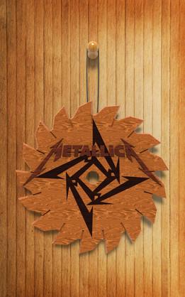 Metallica logo wooden wall hang.