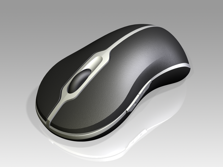 Dell 5 Button Mouse (Full Internals) | 3D CAD Model Library