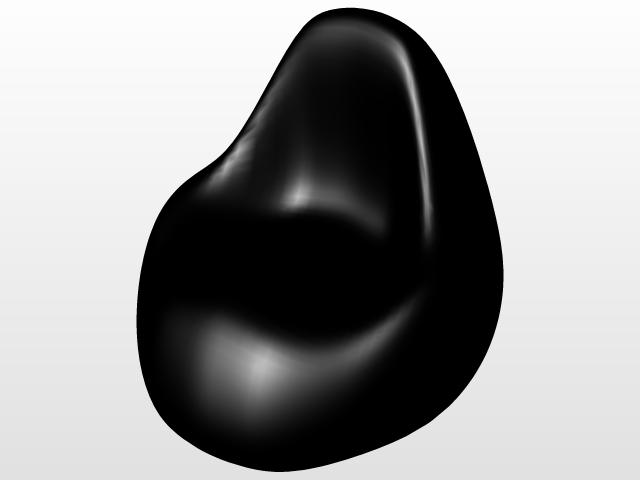 Excellent Bean Bag 3D Cad Model Library Grabcad Pabps2019 Chair Design Images Pabps2019Com