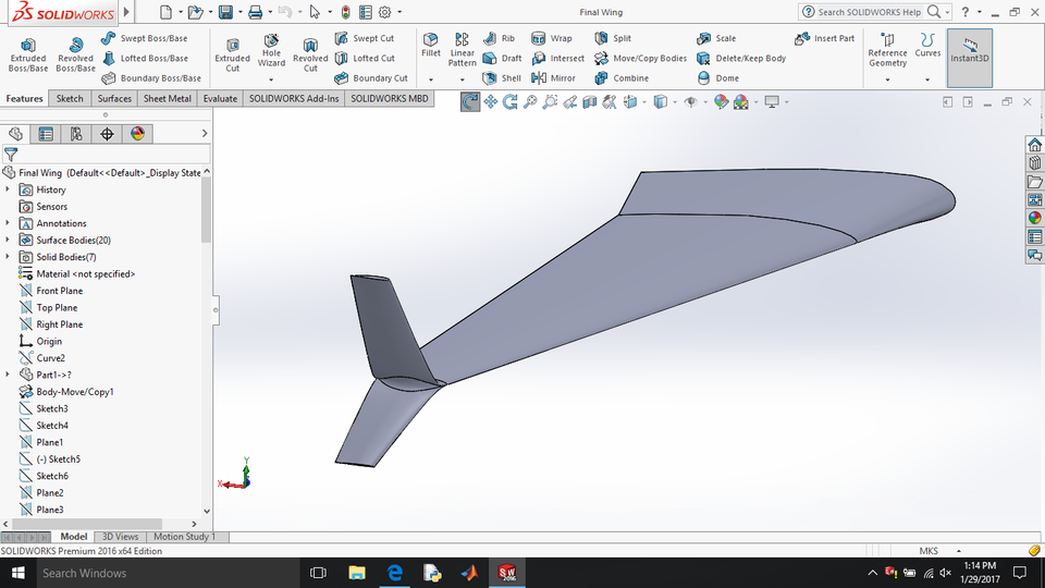 Boeing 737-800 wing | 3D CAD Model Library | GrabCAD