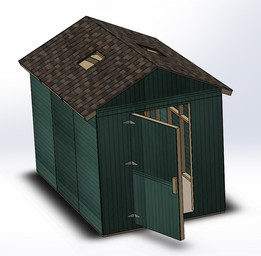 shed - Most downloaded models | 3D CAD Model Collection