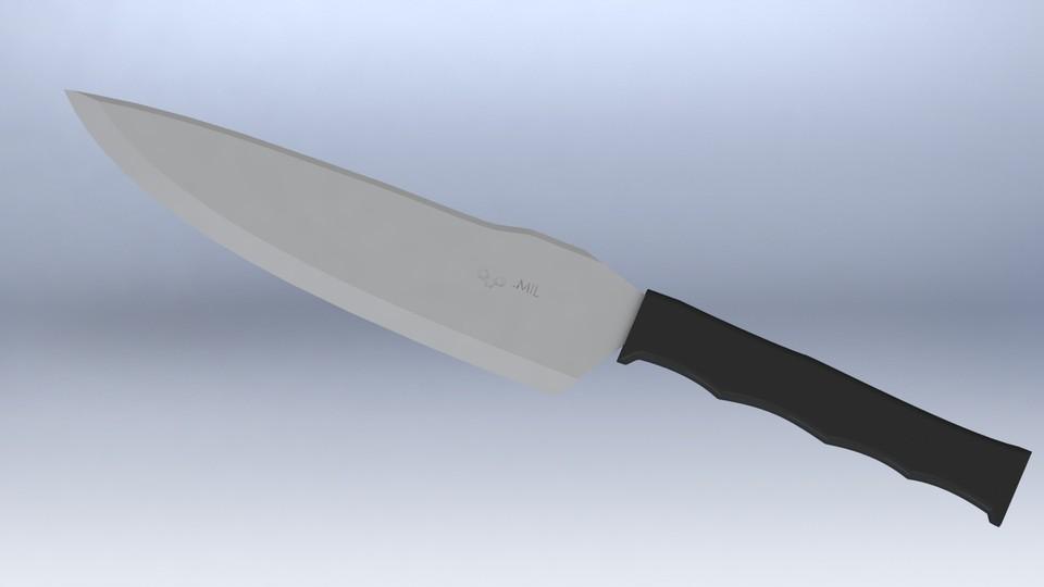 tactical kitchen chef 39 s knife stl solidworks 3d cad model grabcad. Black Bedroom Furniture Sets. Home Design Ideas