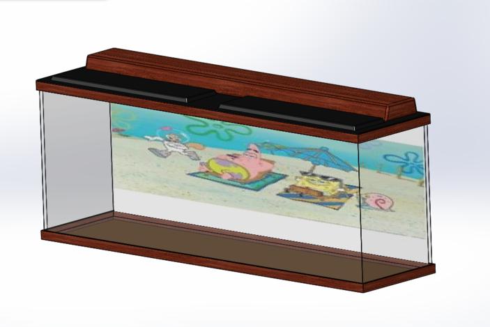 Aquarium with lid solidworks 3d cad model grabcad for 55 gallon fish tank lid