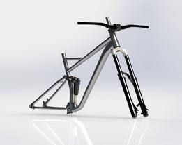 Enduro mountain bike frame