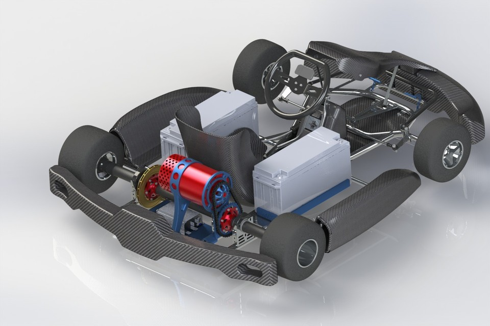 Electric Go Kart | 3D CAD Model Library | GrabCAD