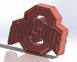 Block O Ohio State Paper Weight