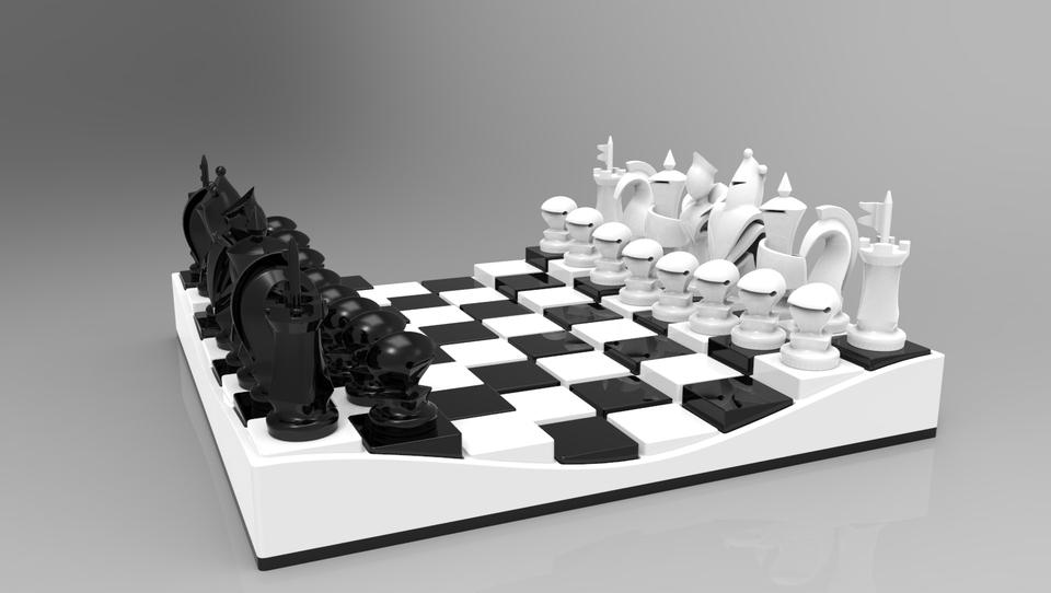 3d Chess 3d Cad Model Grabcad