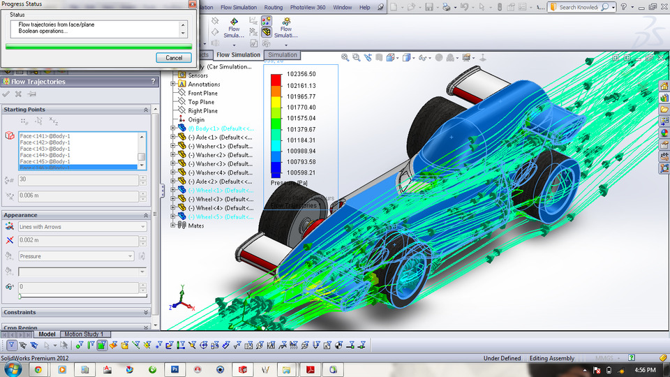 F1 Racing Car Flow Simulation | 3D CAD Model Library