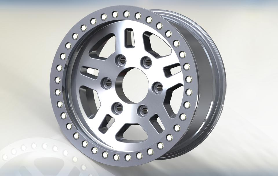 Pro comp 1026 17 beadlock wheel step iges solidworks for 17 inch d window wheels