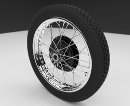 M72 Motorcycle Project Wheel Assembly