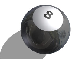 black pool ball
