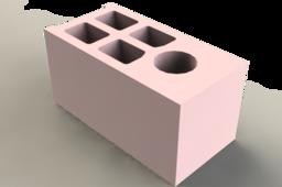 Maquette de parpaing de chaînage échelle de 1:10