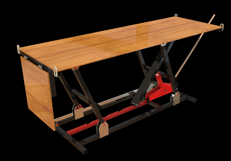 Table l vatrice step iges solidworks 3d cad model for Table elevatrice