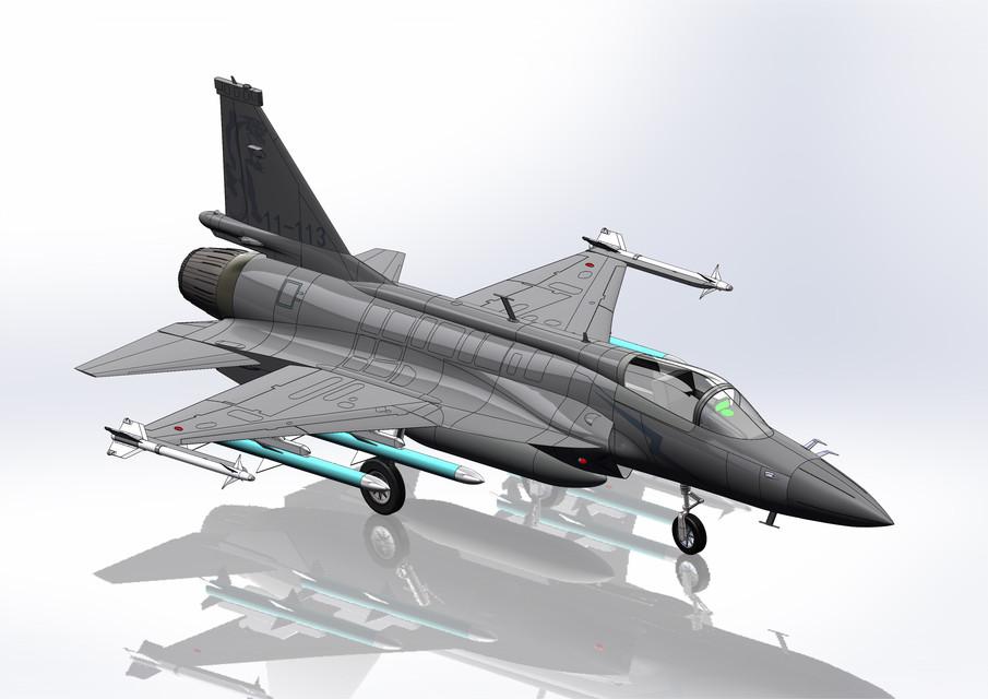 ChengDu JF-17(FC-1) Thunder Fighter | 3D CAD Model Library