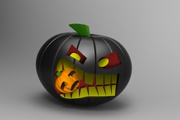 Crazy halloween pumpkin