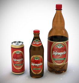 Zajecarsko Pivo - Beer Bottles and Can