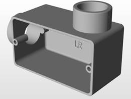 Condulete Aluminio 3/4 com Rosca Tipo LR