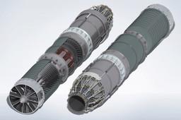 Jet Engine With Afterburner Model