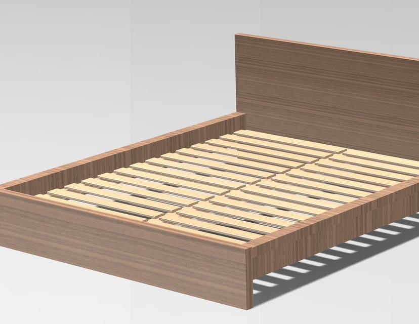 Verrassend Ikea Malm Bedframe | 3D CAD Model Library | GrabCAD EP-35