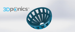 Grow Media Basket V2 - 3Dponics Drip Hydroponics System