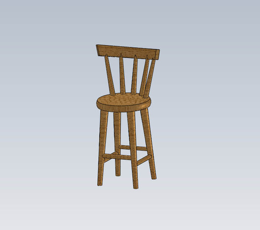 Bar Stool : medium from grabcad.com size 529 x 469 jpeg 39kB