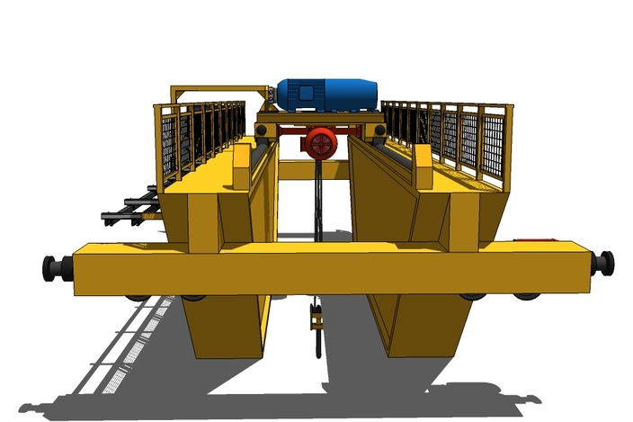 Overhead Crane Autocad Drawing : Overhead crane tons of load