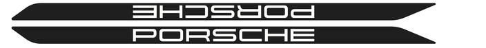 Porsche 924/944/968 door sill stickers