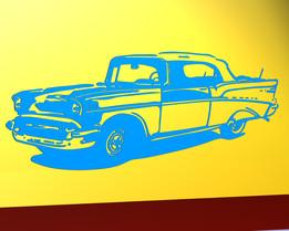 Chevrolet 1957 wall contour