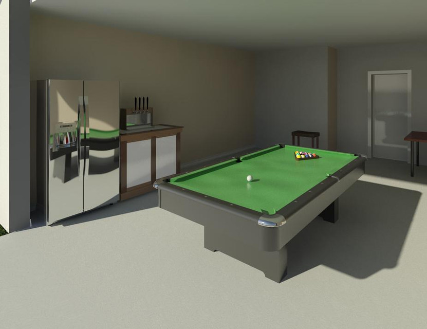 House Project D CAD Model Library GrabCAD - Revit pool table