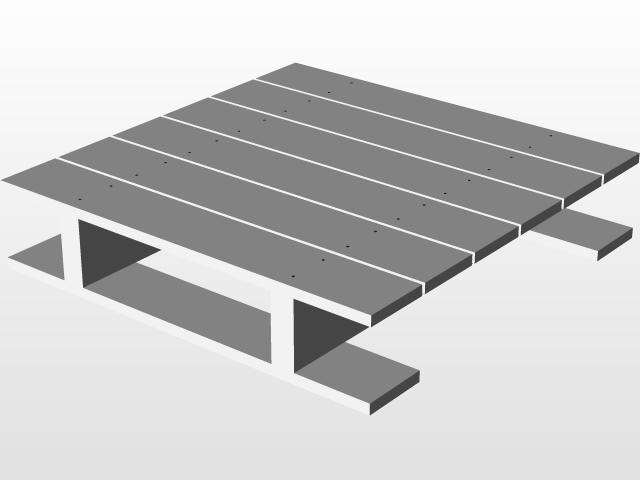 Wooden Pallets | 3D CAD Model Library | GrabCAD