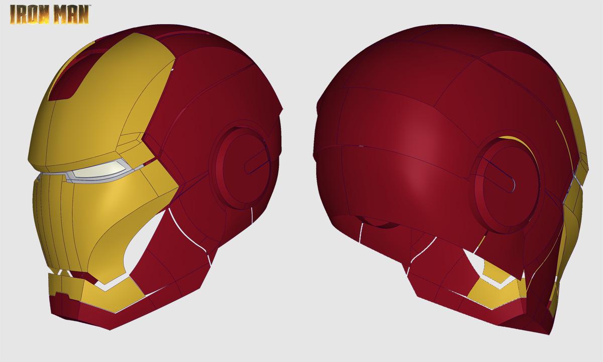 Iron Man Helmet 3d Model Iron Man Helmet Step / Iges
