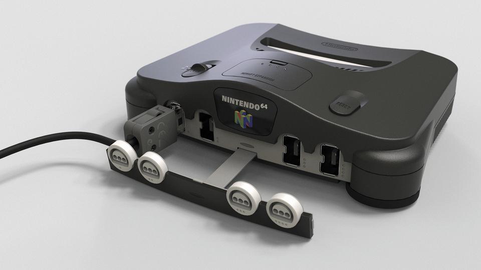 Nintendo 64 classic mini (fake/concept)   3D CAD Model