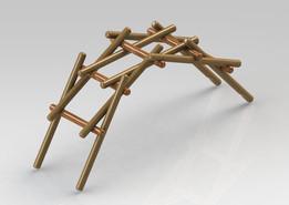 Leonardo da Vinci Self Supporting Bridge