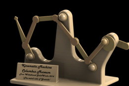 Bar mechanism / Kinematic machine - Columbus museum.