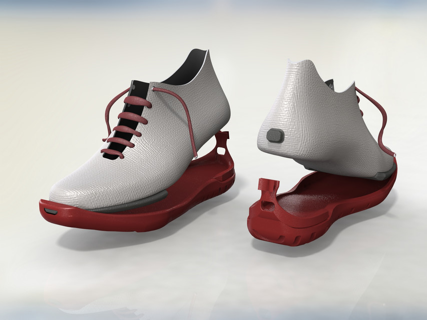 Running Shoe with Interchangeable Soles | 3D CAD Model