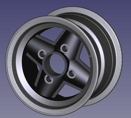 Revolution Alloy Wheel 6x10 (Leyland Mini)