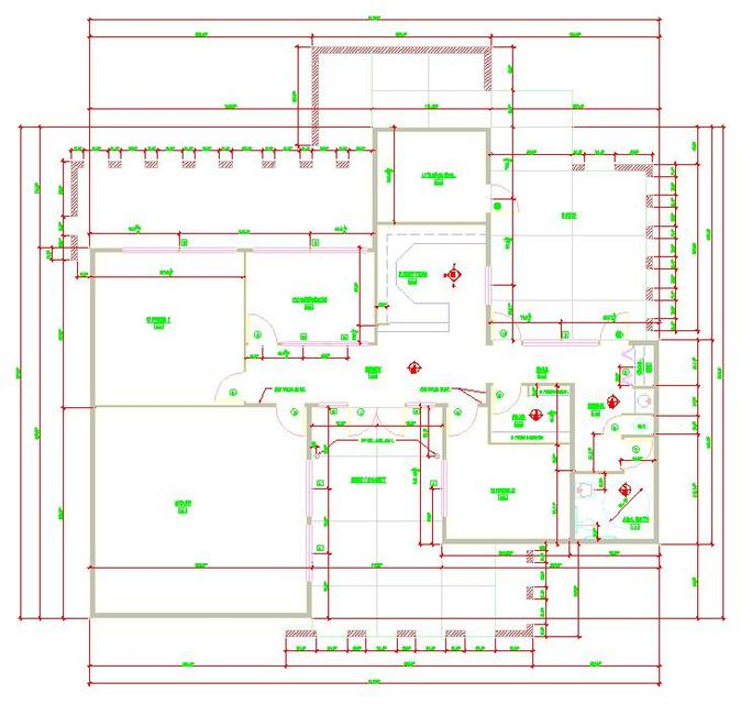 Office Floor Plan Autocad 3d Cad Model Grabcad