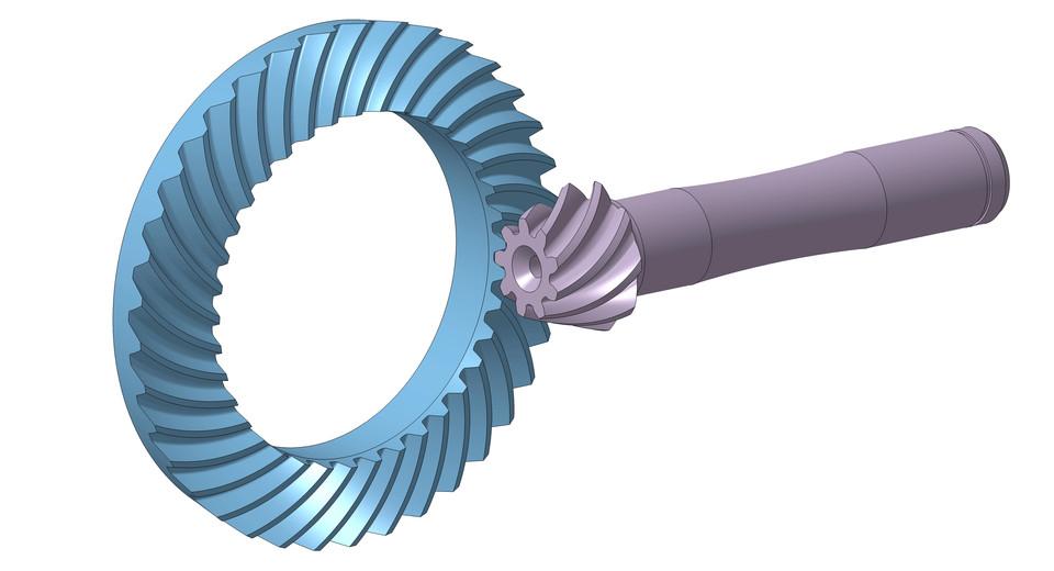 Spiral Bevel Gear Set 3d Cad Model Library Grabcad