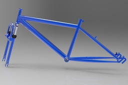 Bicycle frame with fork