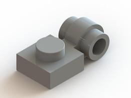 Lego side-stud plate