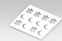 Model sheet metal stamping with - Modelo de Chapa metalica com estampo