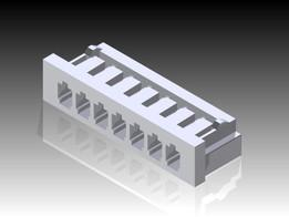 7 Position Single Row 2mm Pitch Crimp Housing - Molex 51090-0700