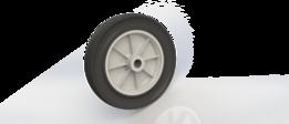 Wheel with Solid Rubber Tire
